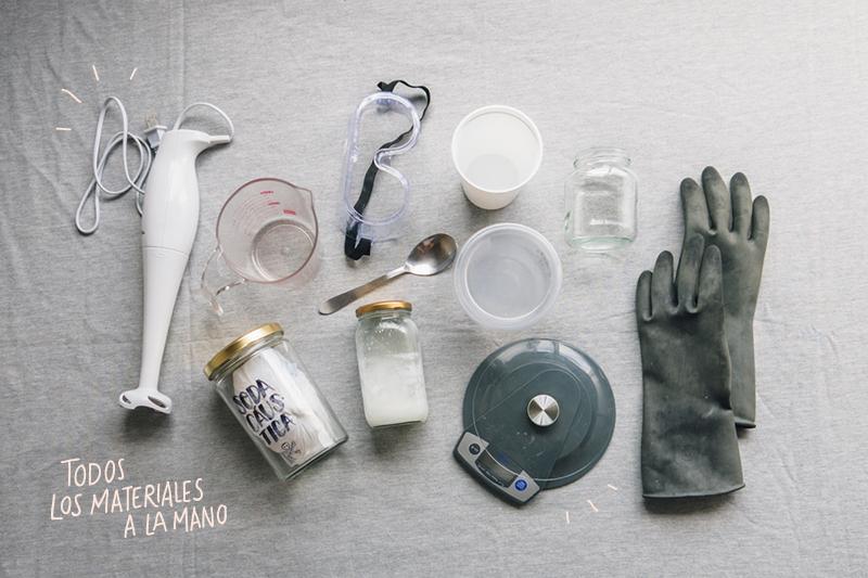 Todos los materiales a la mano