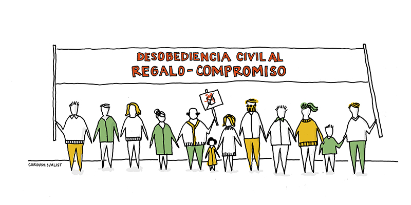 Desobediencia civil al regalo - compromiso