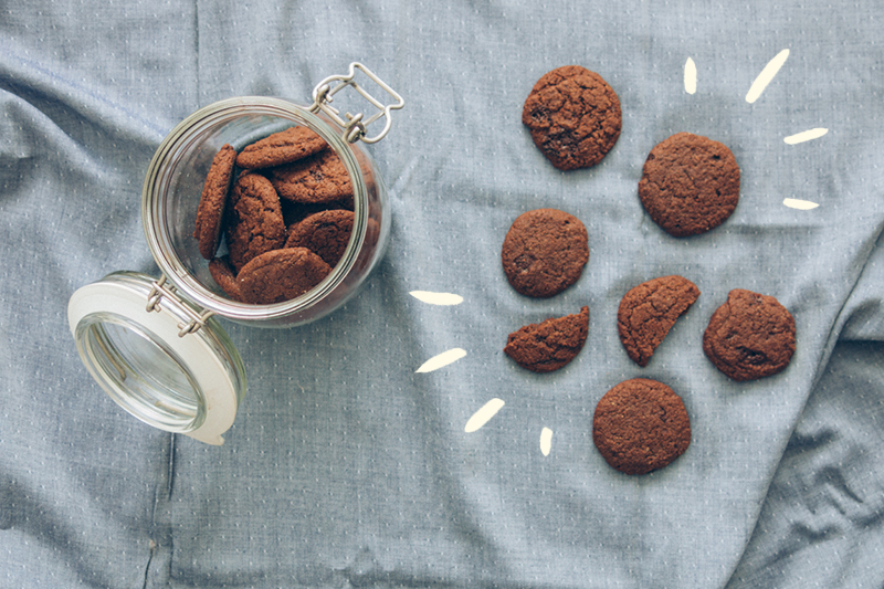 Galletas veganas de chocolate