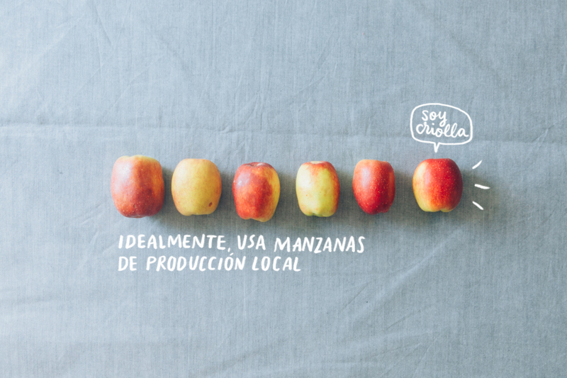 Idealmente, usa manzanas de producción local