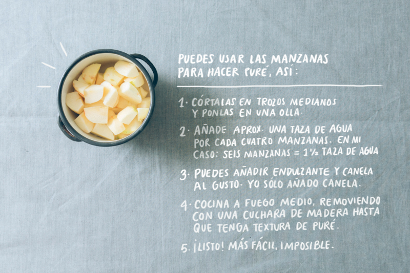Instrucciones para hacer puré de manzana