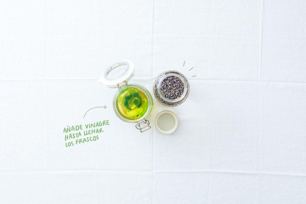 Vinagre aromatizado DIY proceso