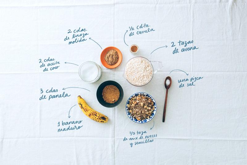 Granola maravillosa · Ingredientes