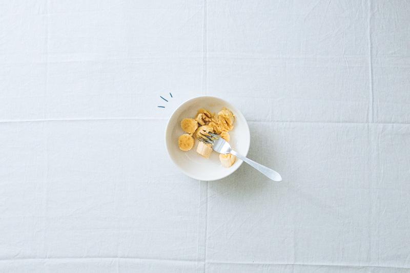 Granola maravillosa · Hacer puré con el banano