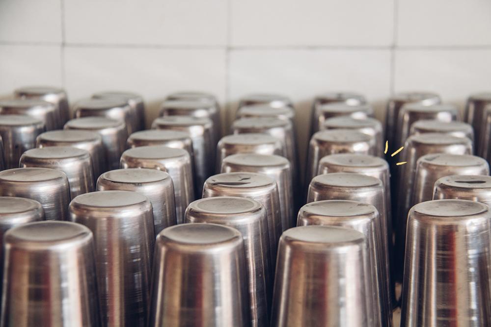 El Faire: Vasos metálicos reutilizables, a prueba de quiebres